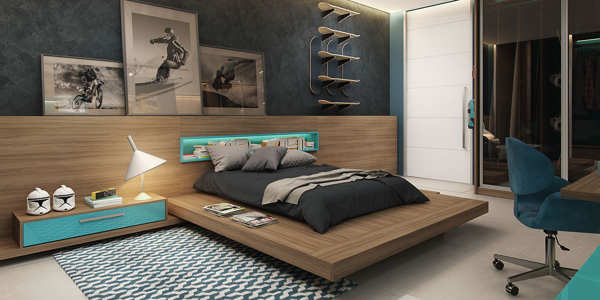 24+ Teen Boys Room Designs, Decorating Ideas | Design Trends ...