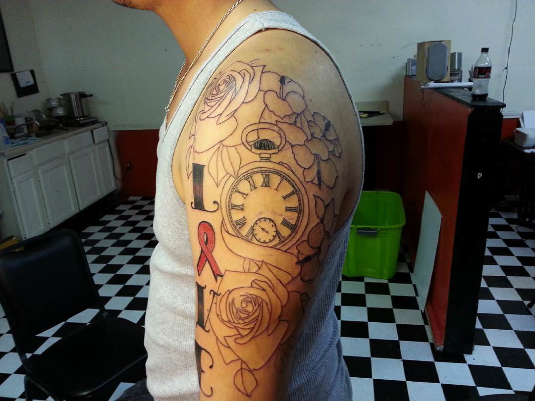 Pitato Sleeve Tattoo Design