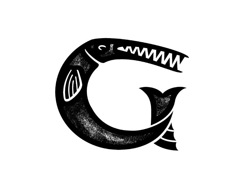 gar fish logo design