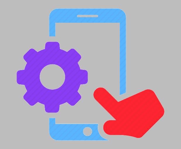 touchscreen settings icon