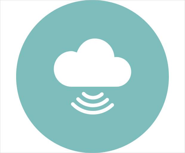 cloud computing signal icon