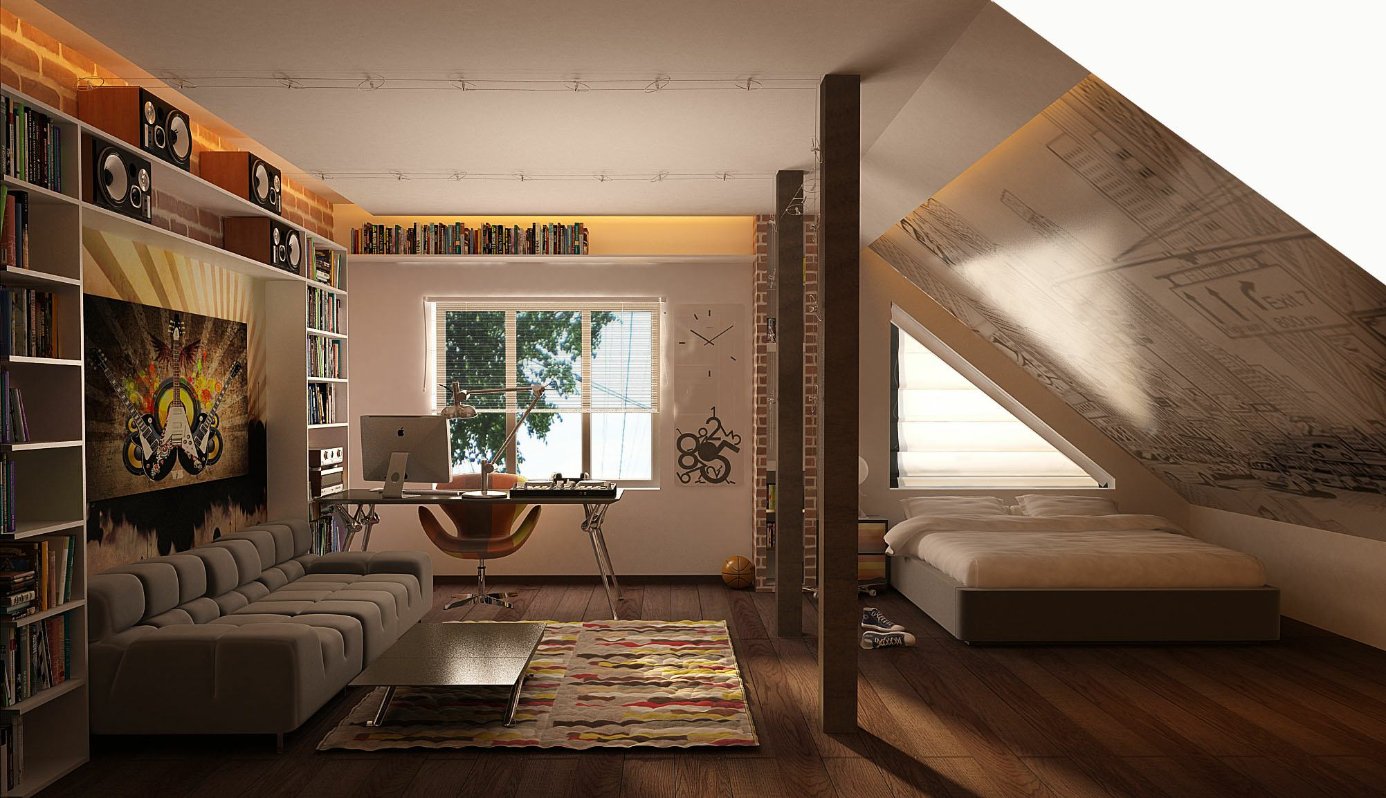 Superbe Cozy Teenage Room Design