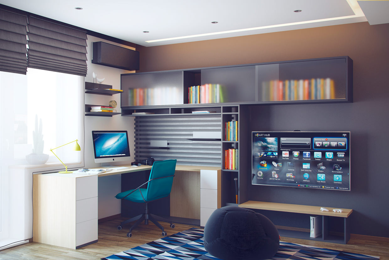 24 teen boys room designs decorating ideas design for Jugendzimmer modern design