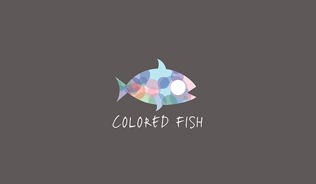 colored fish logo design