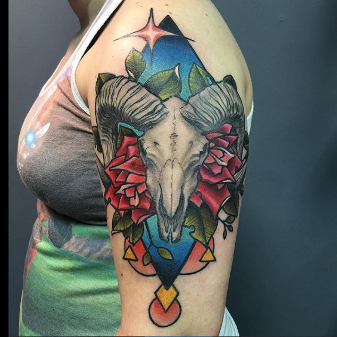Aries Sleeve Tattoo Design