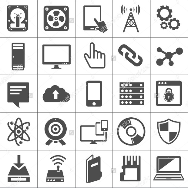 Computer and Network Technology Icons