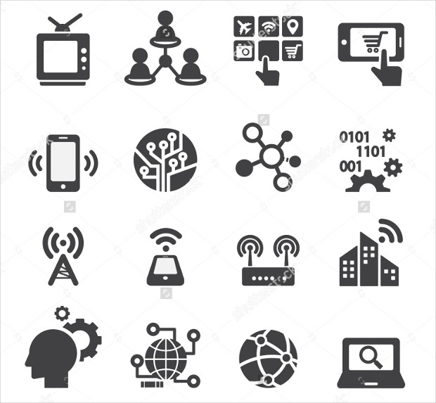 different types of technology icons