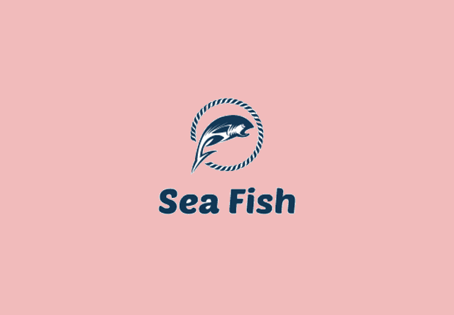 sea fish logo design