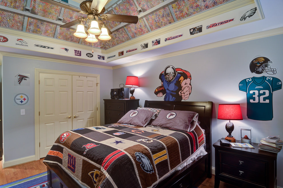 24 teen boys room designs decorating ideas design for Boys sports bedroom ideas