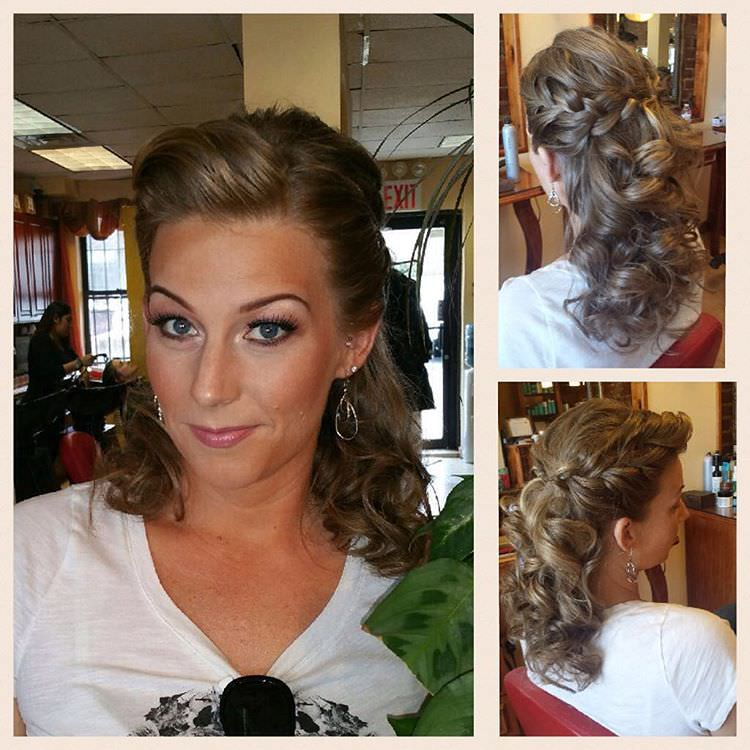 Braided Side Part Hair