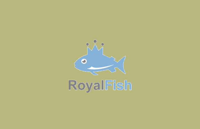 royal fish logo design