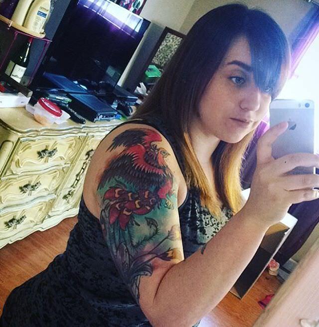 colorful sleeve tattoo design