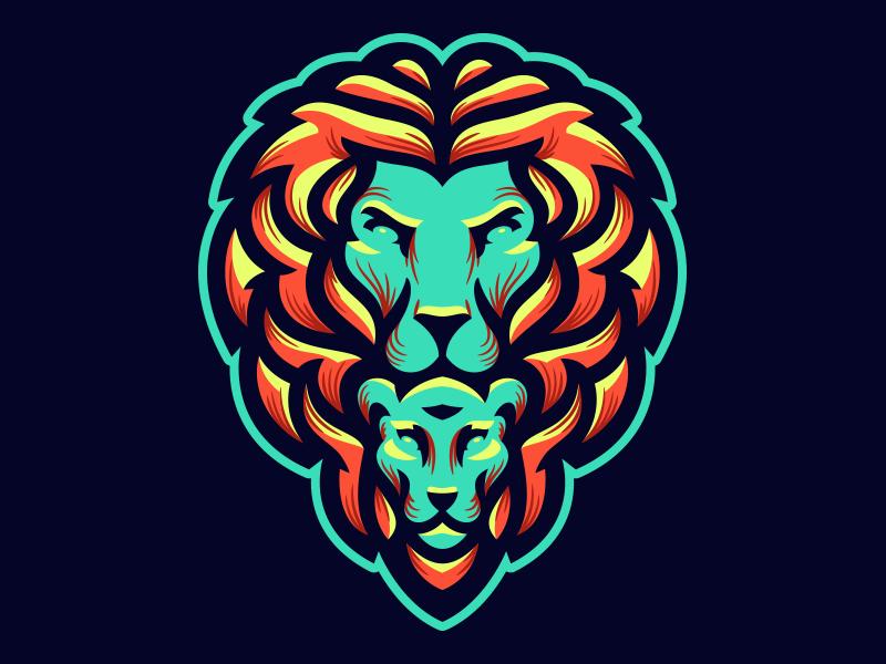 amazing lion logo design