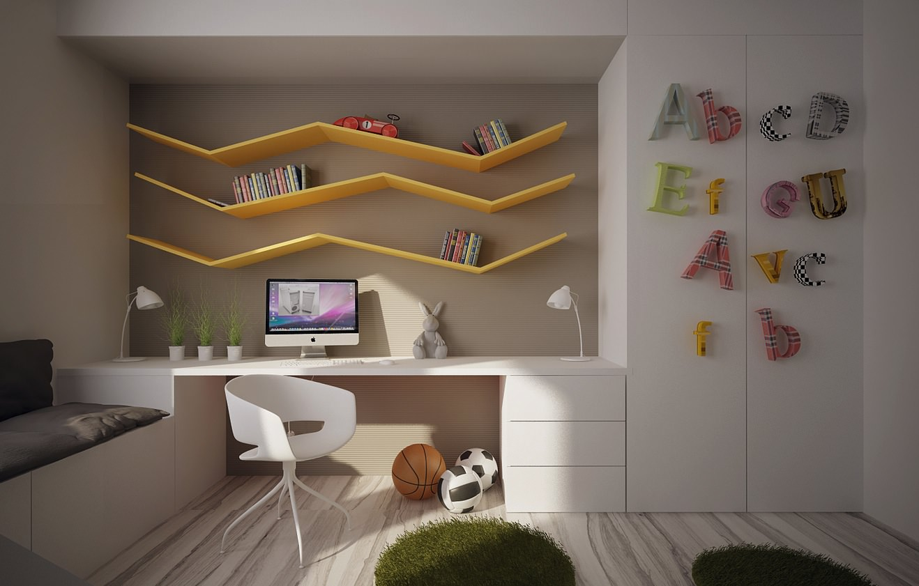 25 kids study room designs decorating ideas design trends premium psd vector downloads - Official table design idea ...