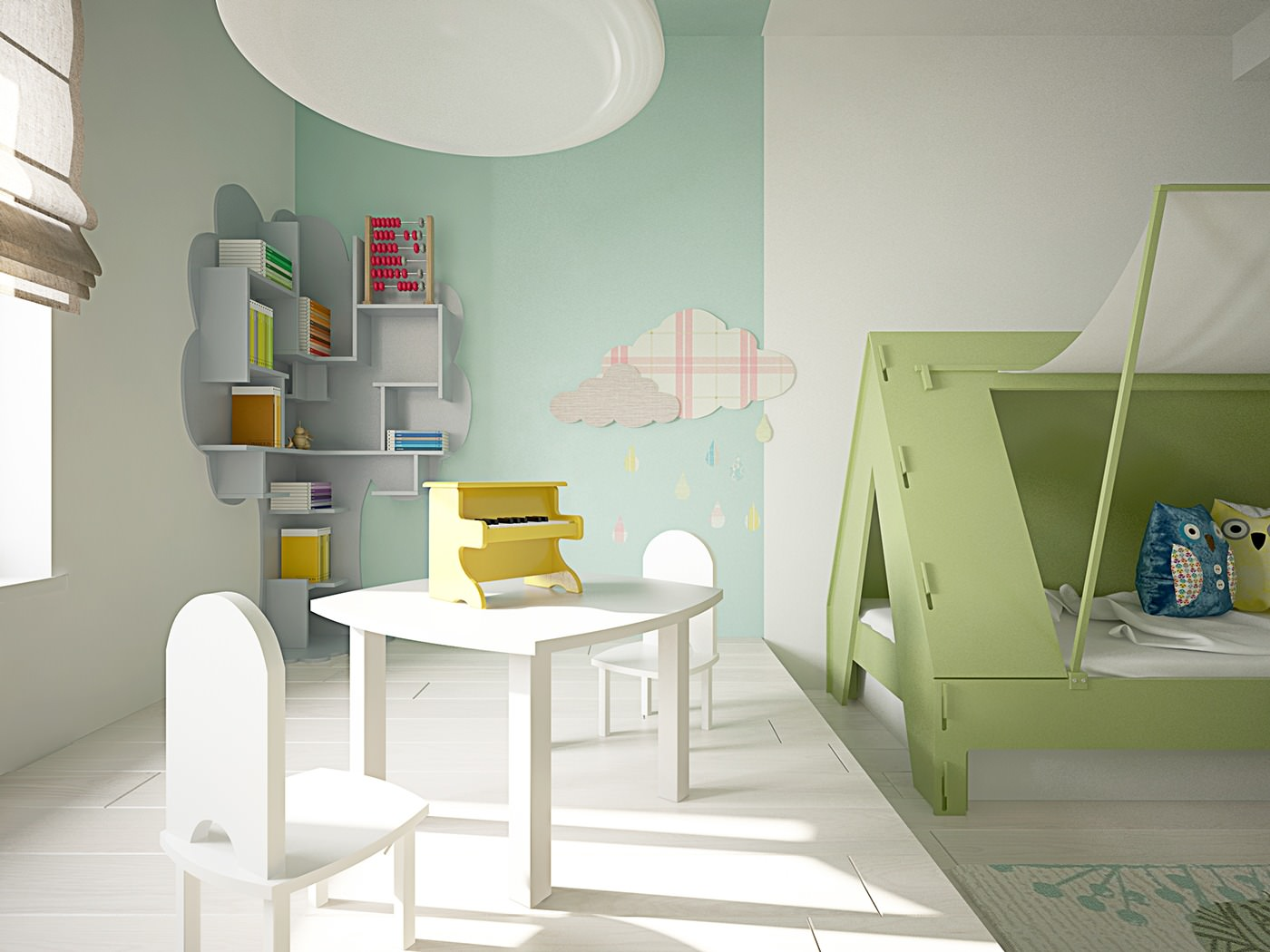 Cute Kids Study Room Ideas