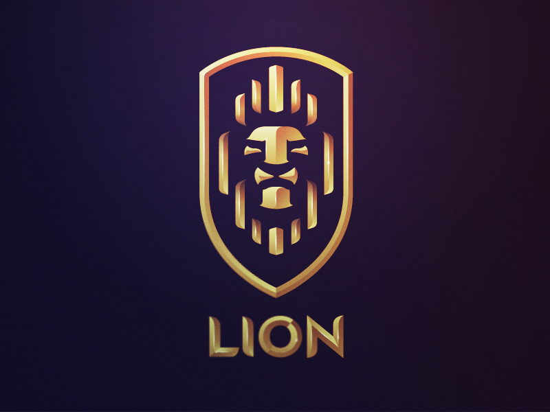 lion crest logo design