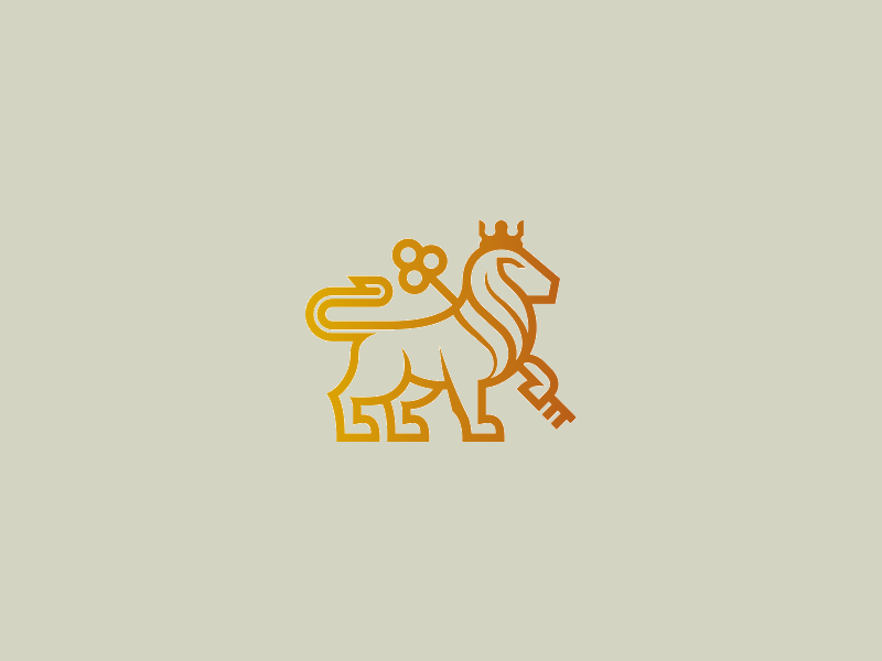 Elegant Lion Logo Design