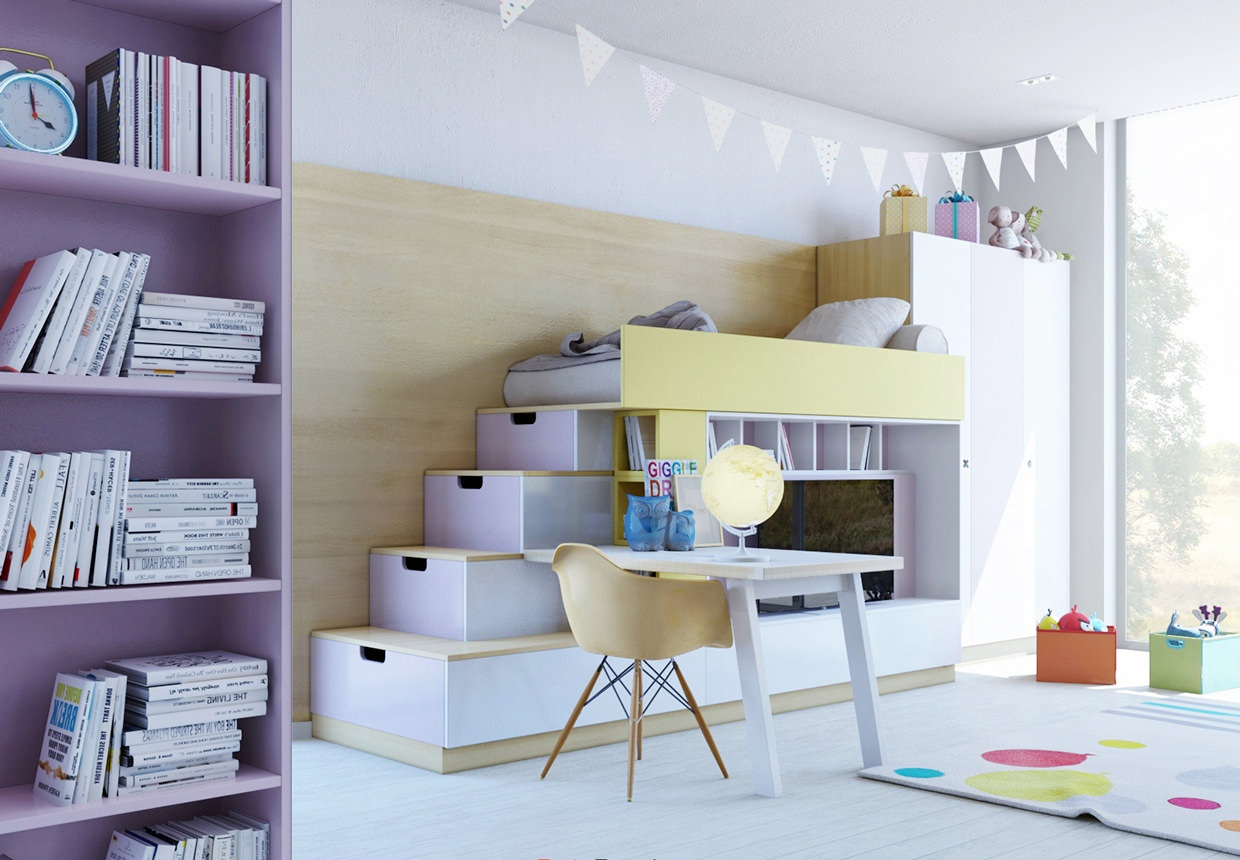 Sassy Kids Study Room Design