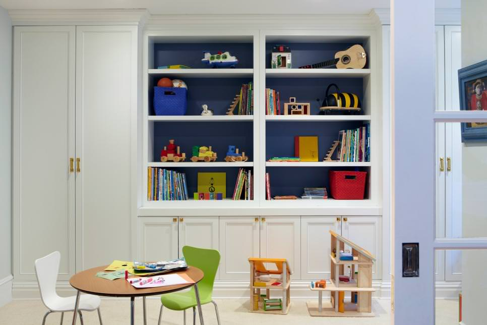 Kids Study Room With Storage