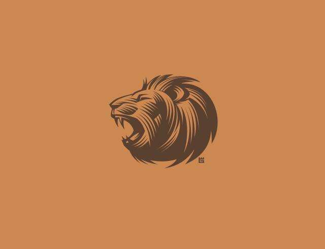 roaring lion logo design