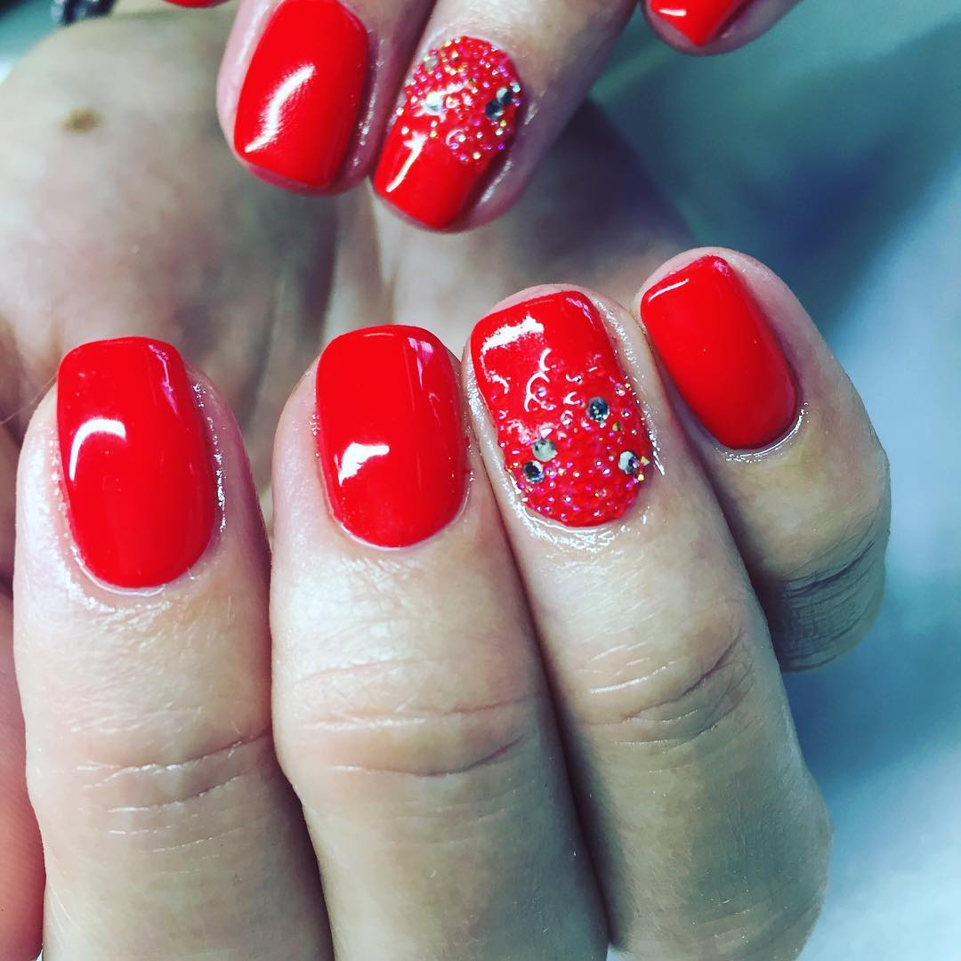 Beautiful red nail art designs design trends premium psd gel nail polish design prinsesfo Images