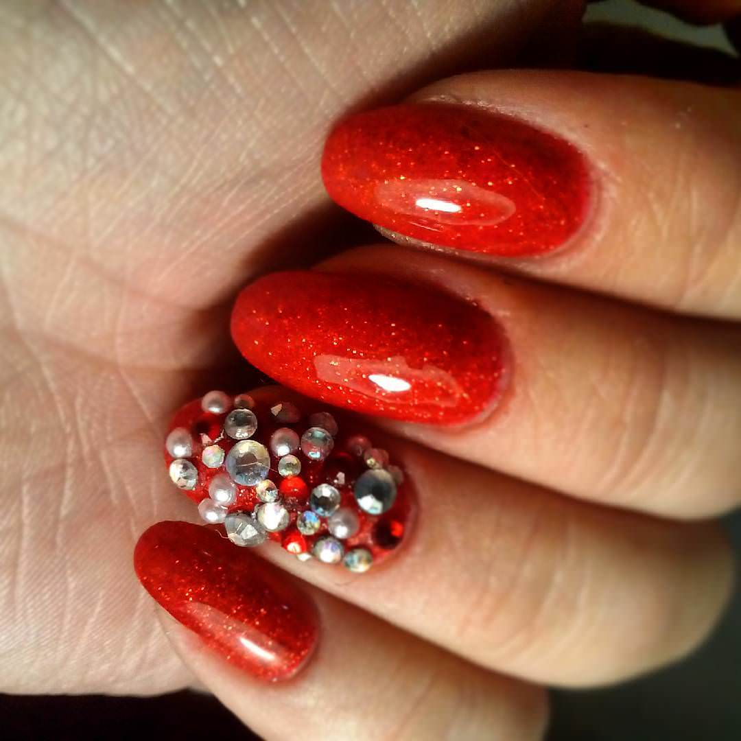 Elegant Red Nail Designs.