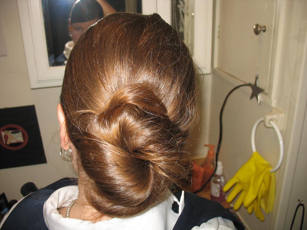 Easy Chignon hair style