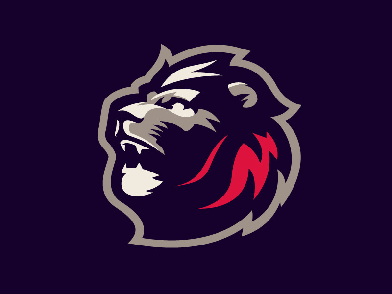 Lion Logo for Sports Team