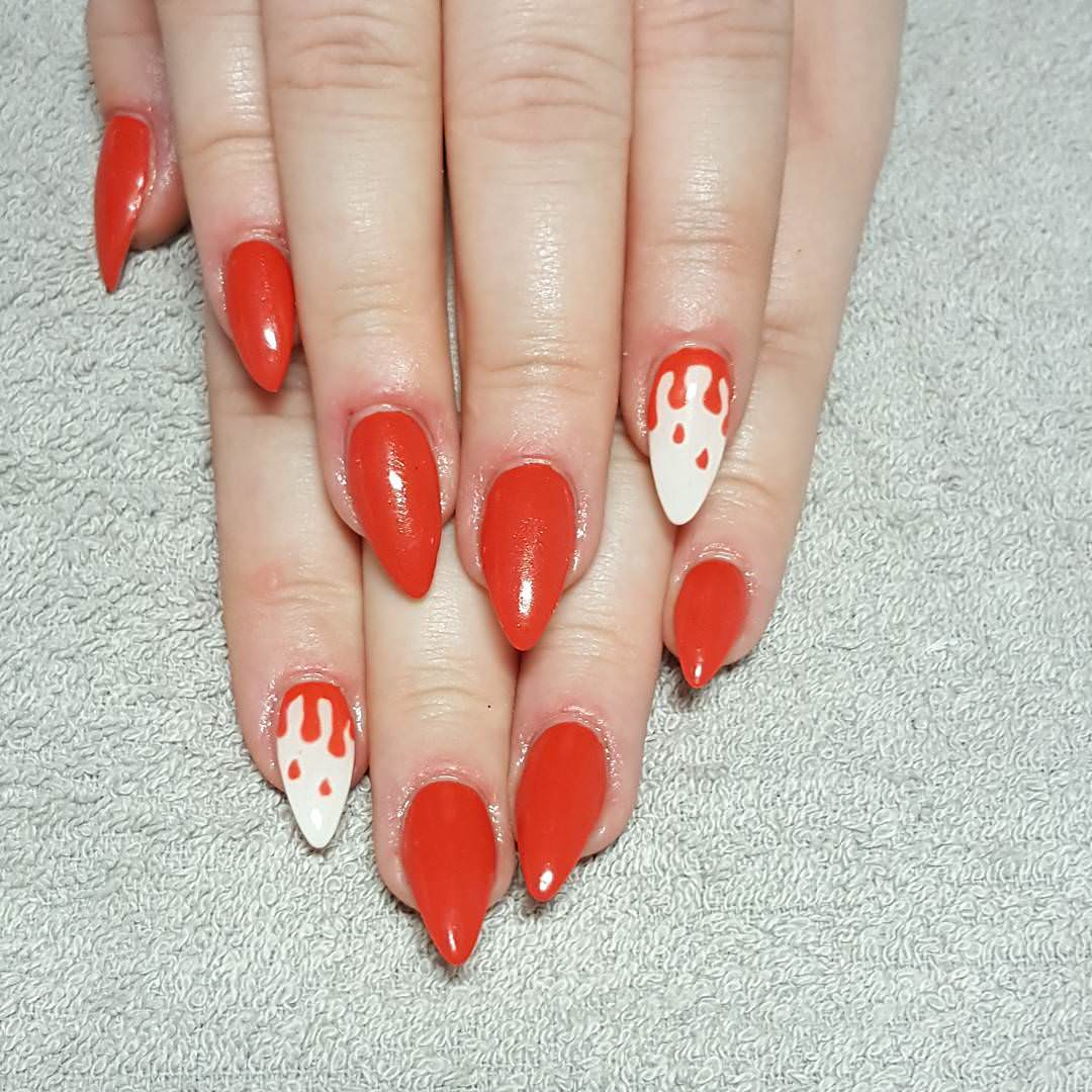 Stylish Red Nail Design