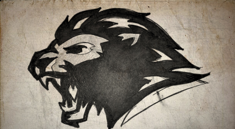 Sketched Lion Logo Design