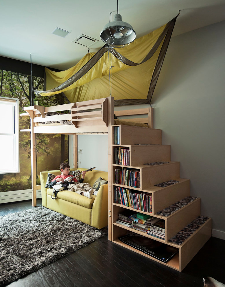 Wooden Building Space Saving Bed
