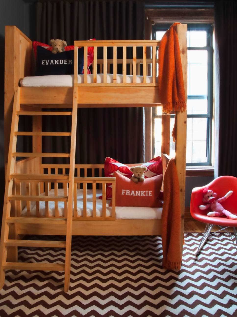 Space Saving Wooden Bunk Bed