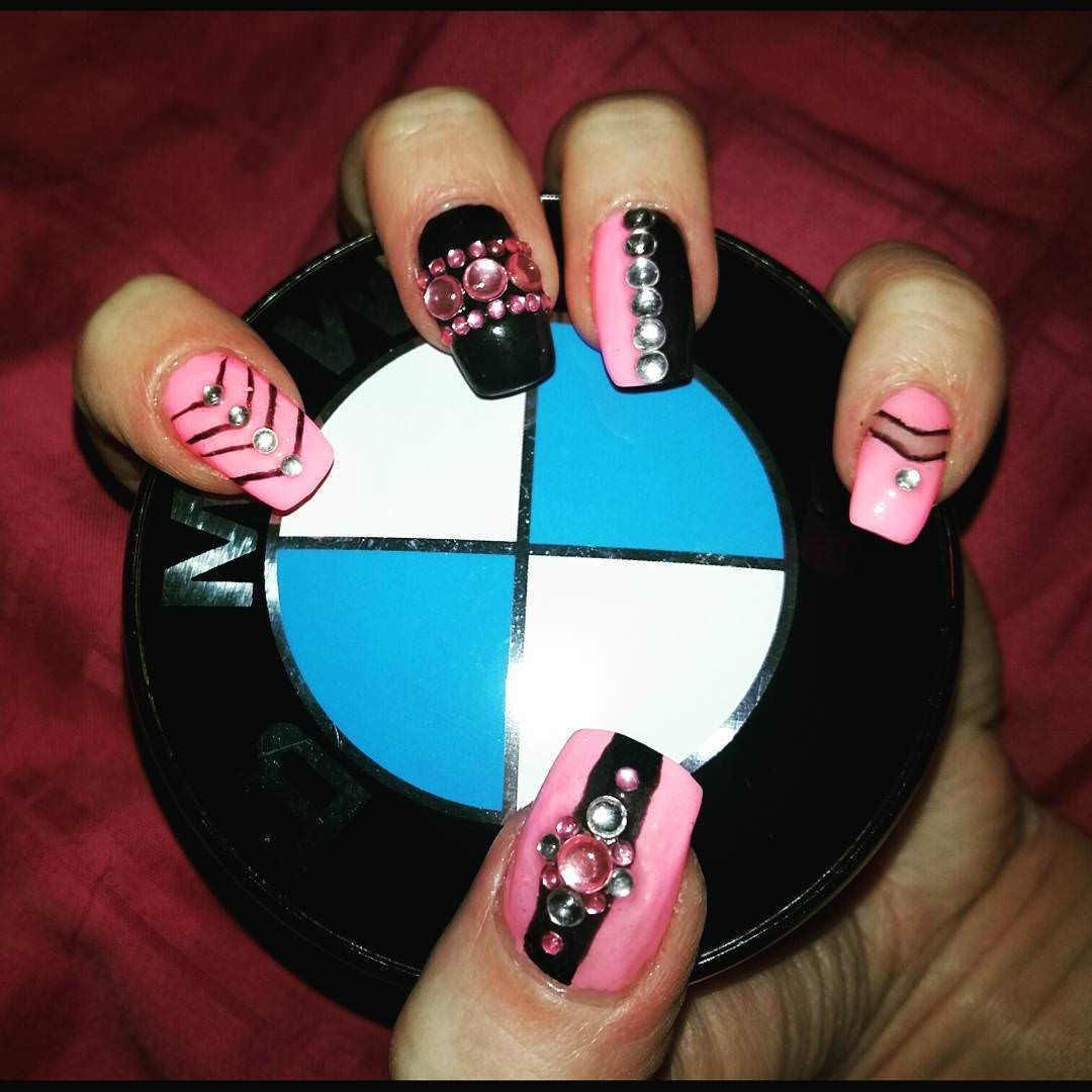 decorated nail design