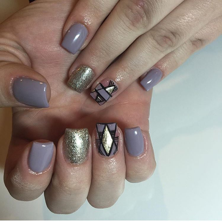 Grey Color Funky Nails