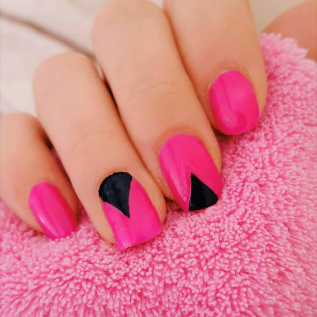 Simple Pink and Black Design