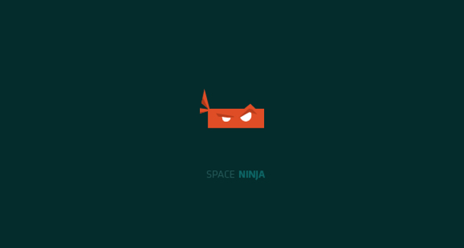 Space Ninja Logo Design