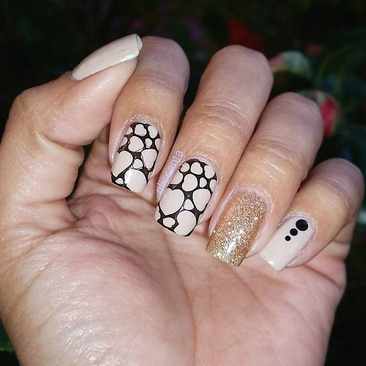 classy funky nail design