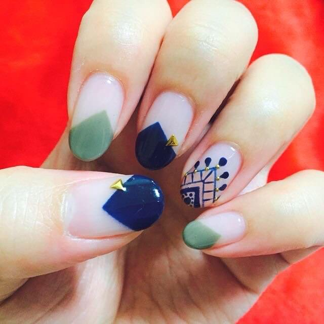 modern funky nails
