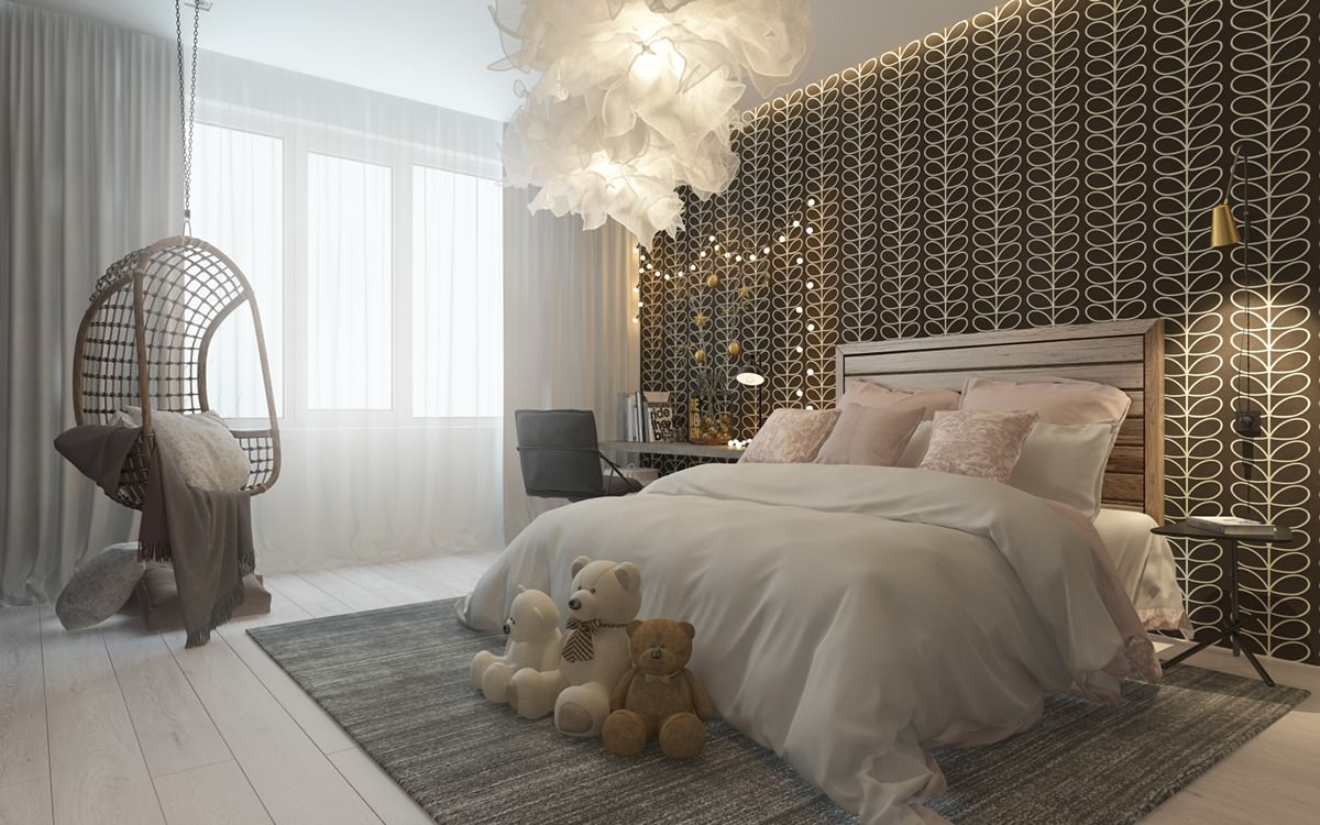 24 modern kids bedroom designs decorating ideas design for Bedroom bed decoration