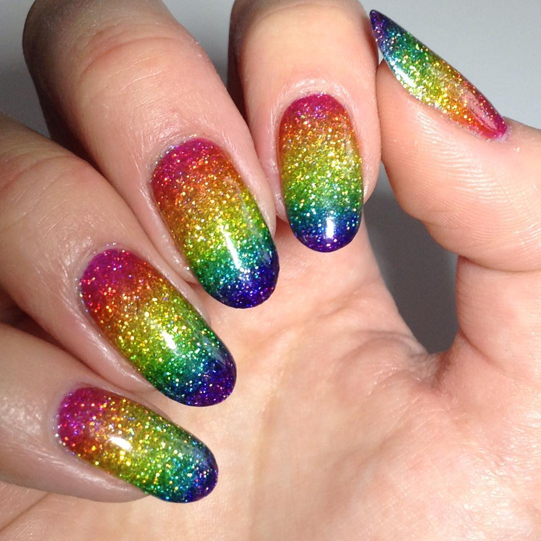 shining rainbow holo design