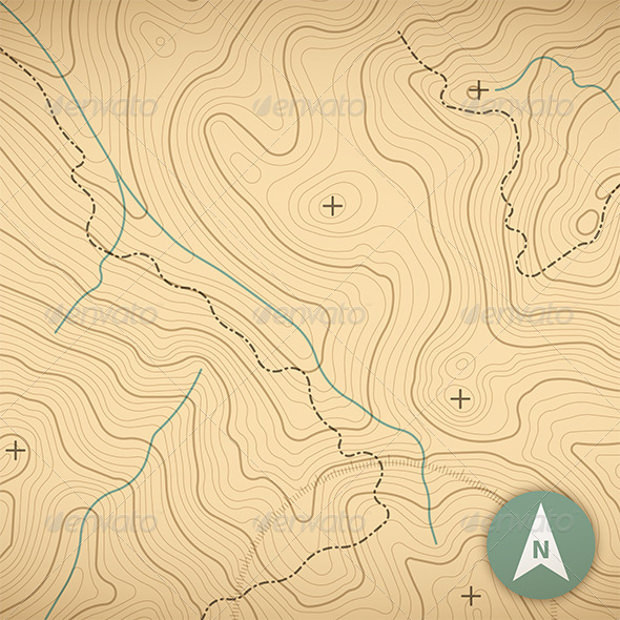 topograghy map outline pattern
