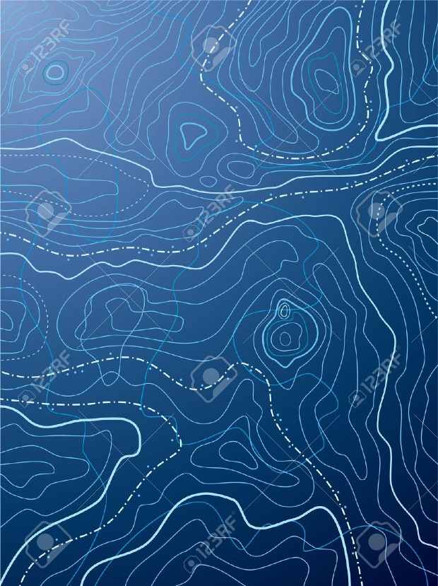 blue colored topographic pattern