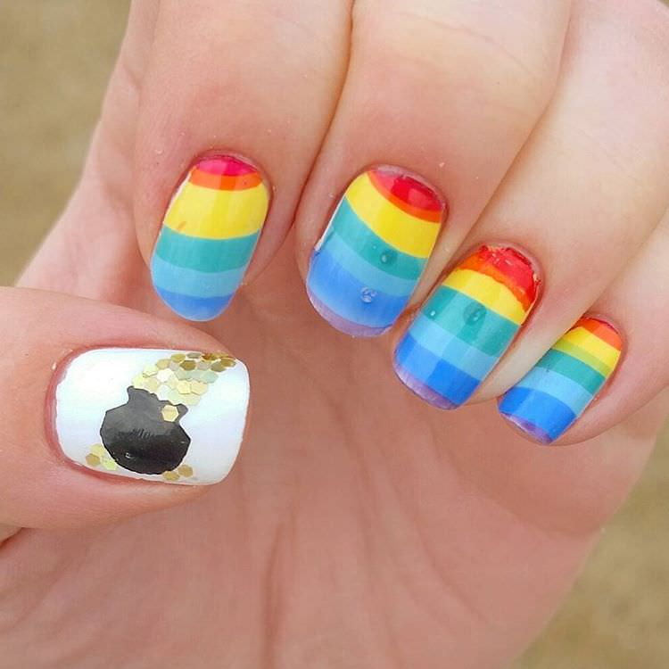 cute rainbow nails