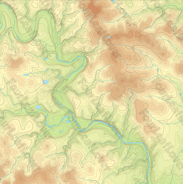 excellent topographic route wallpaper