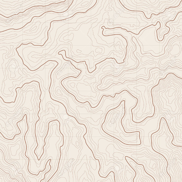 Map with Contour Lines