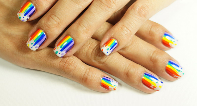 img. Rainbow nail ... - 25+ Rainbow Nail Arts, Designs, Ideas Design Trends - Premium PSD