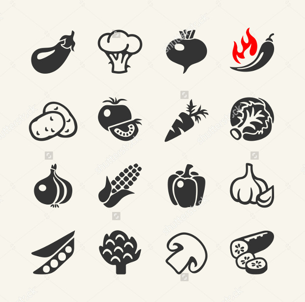 Vegetables Web Icons