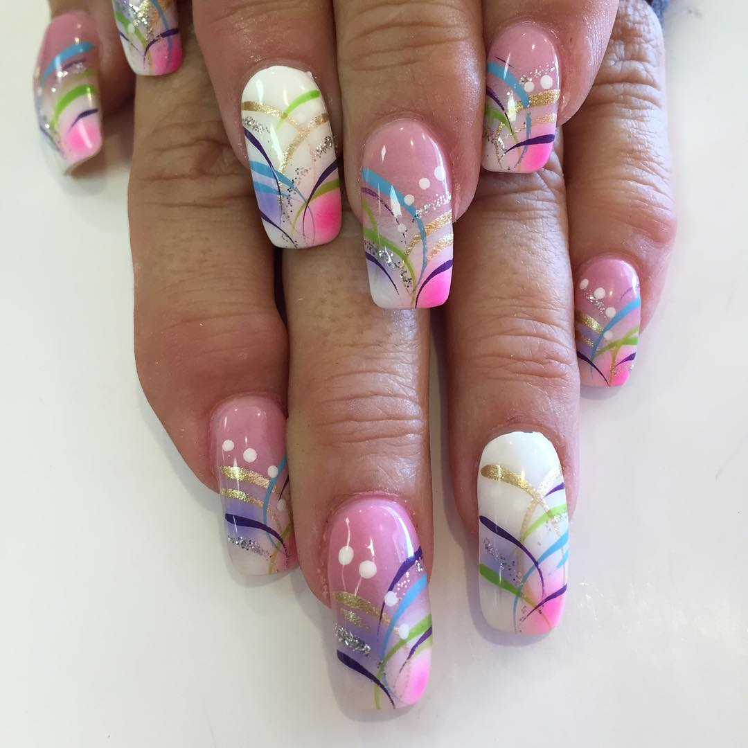 Hand Painted Nail Art Designs: 29+ Fancy Nail Designs, Art, Ideas