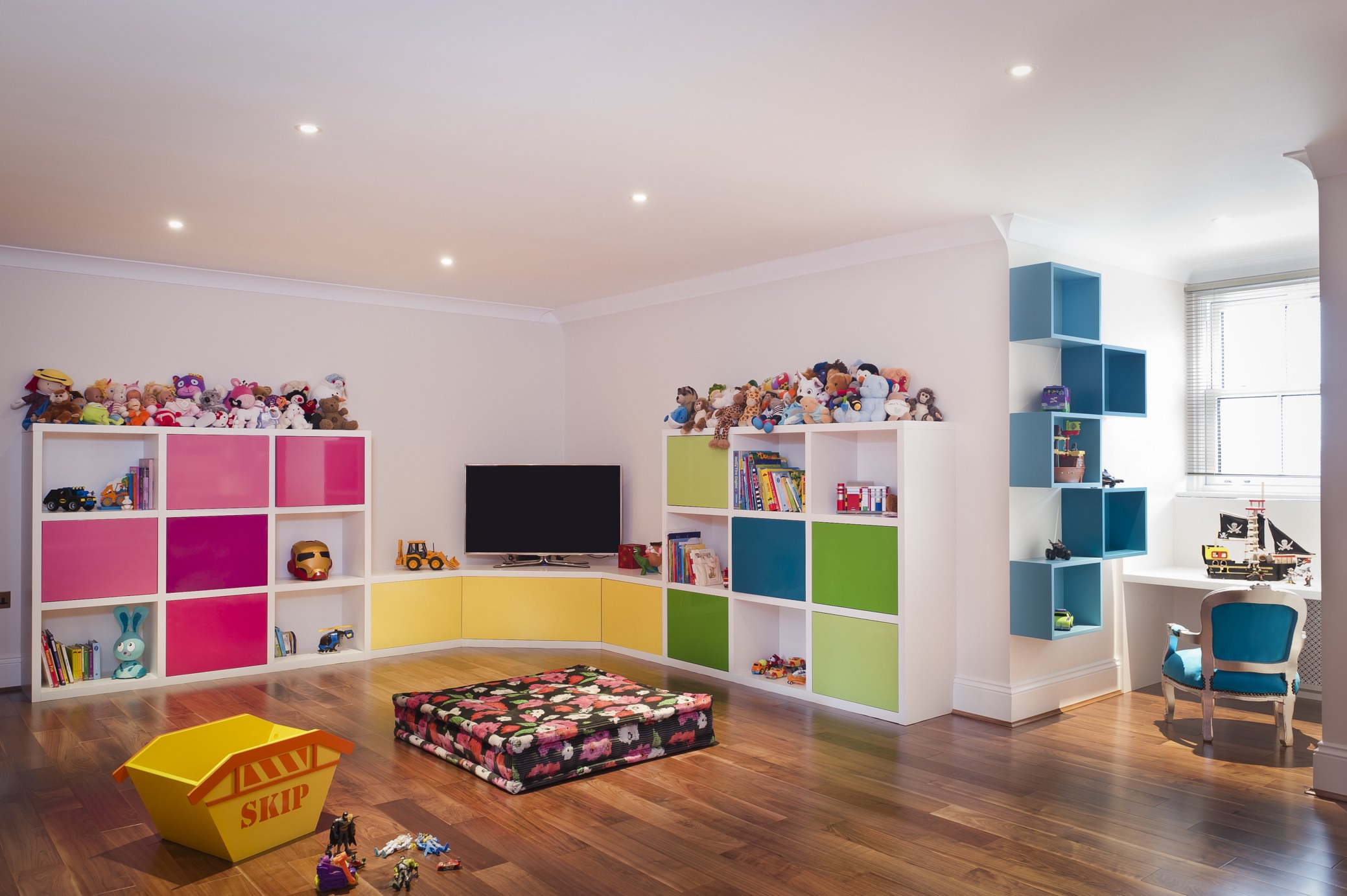 Bright Colors Kids Play Room Designs