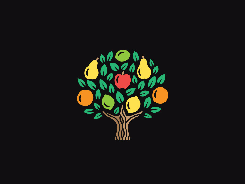 Fruit Tree Logo Design
